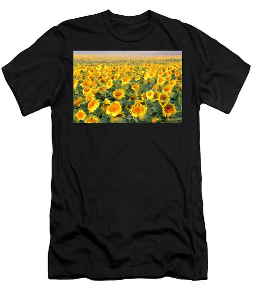 Men's T-Shirt (Athletic Fit) featuring the photograph The Sunflower Field by Marla Craven