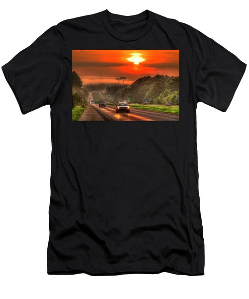 The Sunrise Commute Georgia Interstate 20 Art Men's T-Shirt (Athletic Fit)