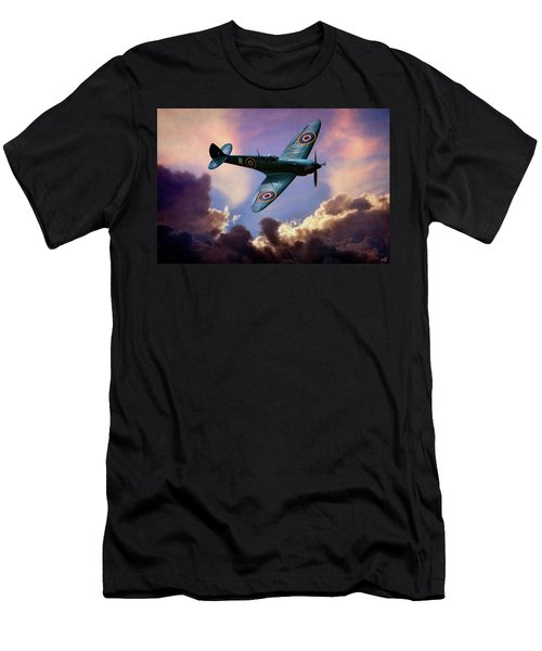Men's T-Shirt (Athletic Fit) featuring the photograph The Supermarine Spitfire by Chris Lord