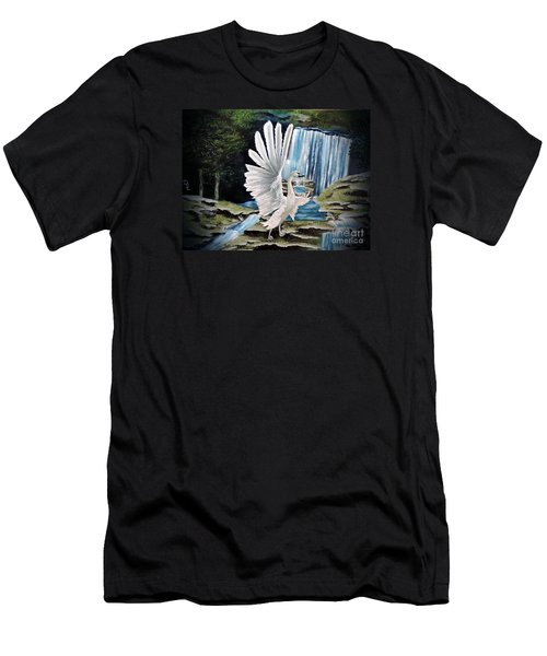 The Swan Men's T-Shirt (Slim Fit) by Dianna Lewis