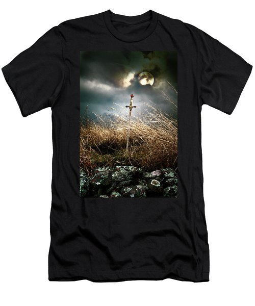 Sword Under A Full Moon Men's T-Shirt (Athletic Fit)