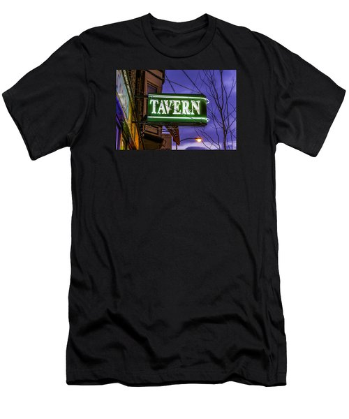 The Tavern On Lincoln Men's T-Shirt (Slim Fit) by Raymond Kunst