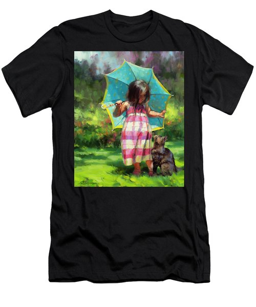 The Teal Umbrella Men's T-Shirt (Athletic Fit)