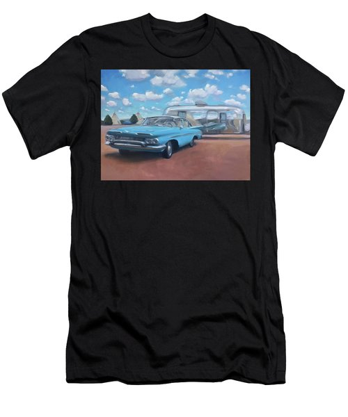 The Teepee Motel, Route 66 Men's T-Shirt (Athletic Fit)