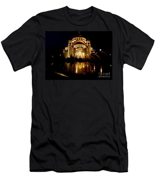 The Temple Of Saint Sava In Belgrade  Men's T-Shirt (Slim Fit) by Danica Radman
