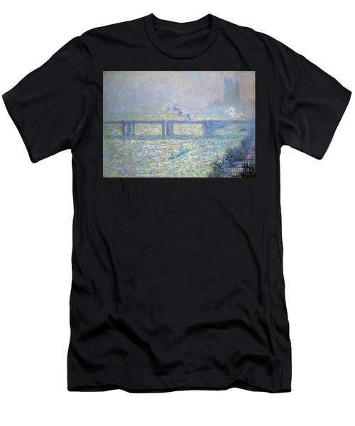 The Thames At Charing Cross Bridge, London, 1899 Men's T-Shirt (Athletic Fit)
