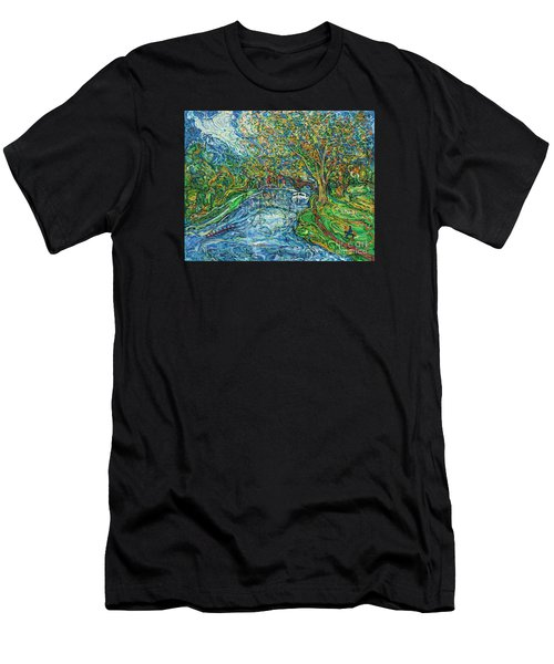 The Thames At Oxford Men's T-Shirt (Athletic Fit)