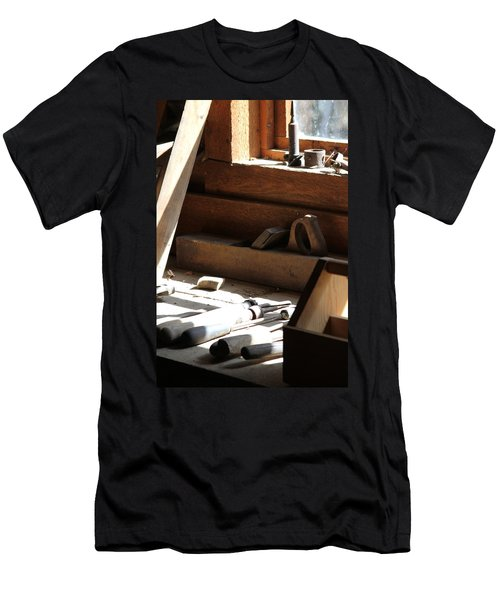 Men's T-Shirt (Slim Fit) featuring the photograph The Tools by Laddie Halupa
