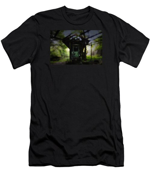 The Tram Leaves The Station... Men's T-Shirt (Athletic Fit)