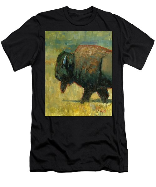 Men's T-Shirt (Slim Fit) featuring the painting The Traveler by Billie Colson