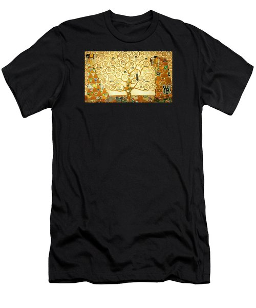 The Tree Of Life Men's T-Shirt (Slim Fit) by Gustav Klimt