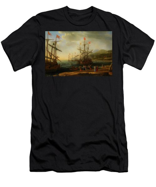 Men's T-Shirt (Slim Fit) featuring the painting The Trojan Women Setting Fire To The Fleet by Claude Lorrain