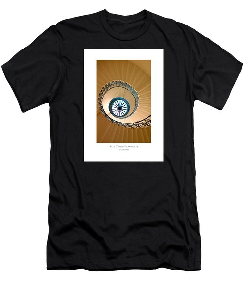 Men's T-Shirt (Athletic Fit) featuring the digital art The Tulip Staircase by Julian Perry