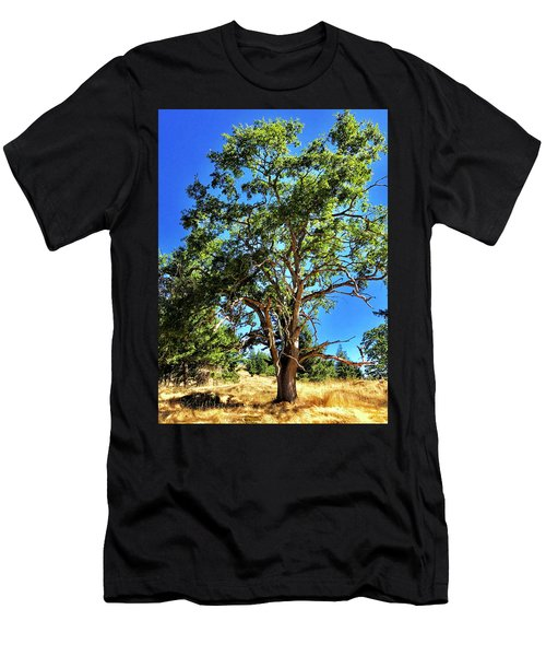 Men's T-Shirt (Athletic Fit) featuring the photograph The Turtleback Tree by Lorraine Devon Wilke