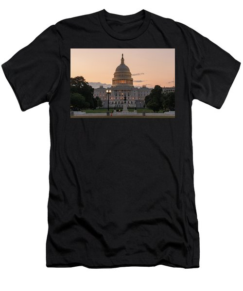The United States Capitol At Sunrise Men's T-Shirt (Athletic Fit)