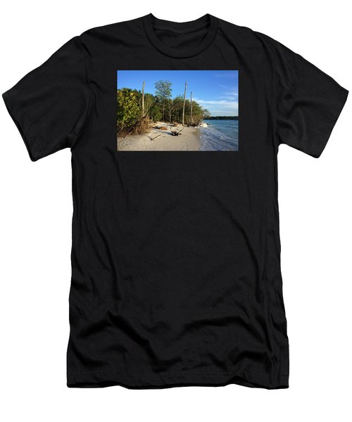 The Unspoiled Beauty Of Barefoot Beach In Naples - Landscape Men's T-Shirt (Athletic Fit)