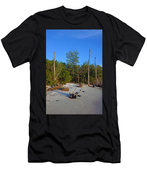 The Unspoiled Beauty Of Barefoot Beach In Naples - Portrait Men's T-Shirt (Athletic Fit)