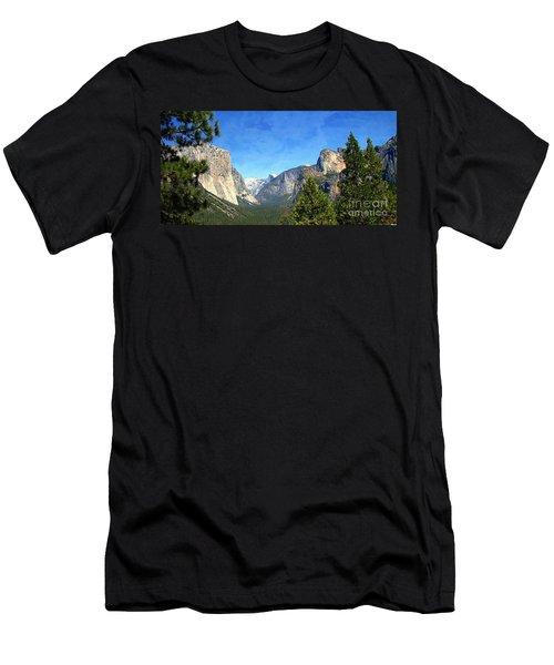The Valley Of Inspiration-yosemite Men's T-Shirt (Athletic Fit)