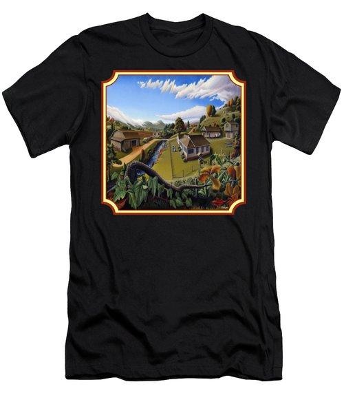 The Veon's Farm Life Country Landscape - Square Format Men's T-Shirt (Athletic Fit)