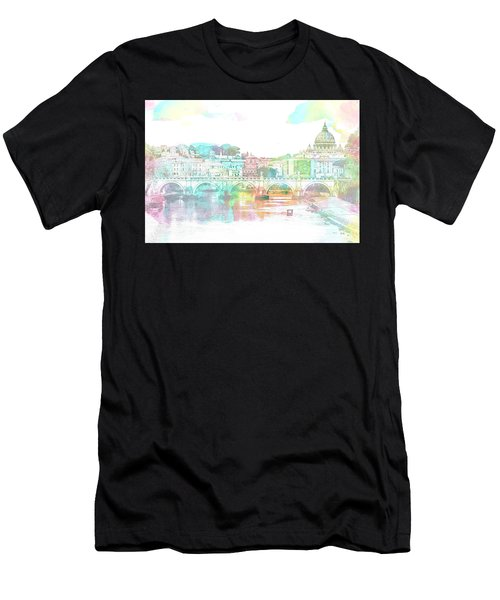 The View From Castel Sant'angelo Towards Ponte Sant'angelo, Brid Men's T-Shirt (Athletic Fit)