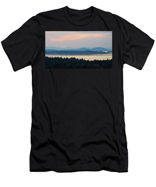 The View From Mt. Tolmie Men's T-Shirt (Slim Fit) by Keith Boone
