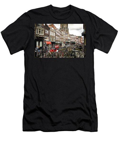 The Vismarkt In Utrecht Men's T-Shirt (Slim Fit) by RicardMN Photography