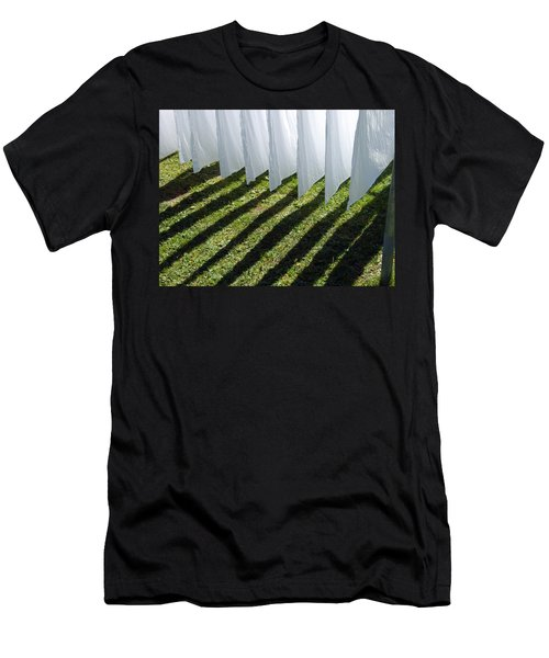 The Washing Is On The Line - Shadow Play Men's T-Shirt (Athletic Fit)
