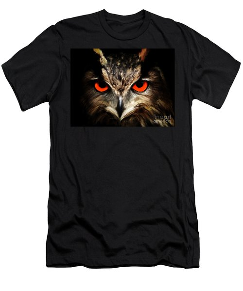 The Watcher - Owl Digital Painting Men's T-Shirt (Athletic Fit)
