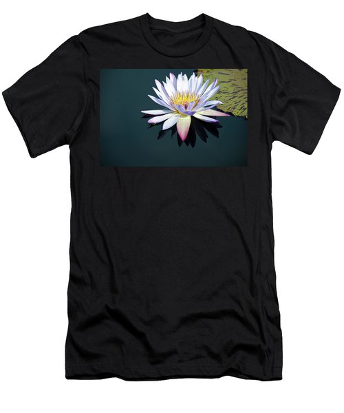 Men's T-Shirt (Athletic Fit) featuring the photograph The Water Lily by David Sutton