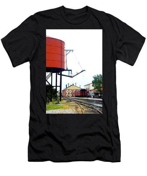Men's T-Shirt (Slim Fit) featuring the photograph The Water Tower by Paul W Faust - Impressions of Light