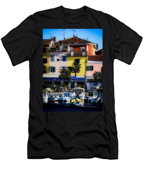 The Watercolors In Split Men's T-Shirt (Athletic Fit)