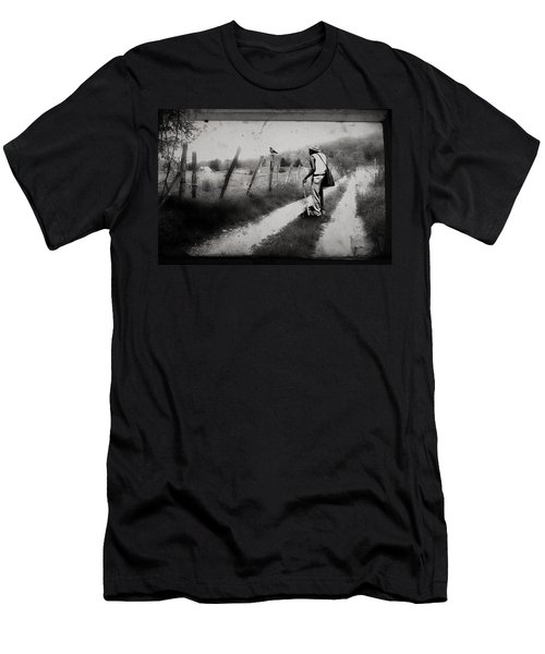 Men's T-Shirt (Slim Fit) featuring the photograph The Way Of The Crow by Gray  Artus
