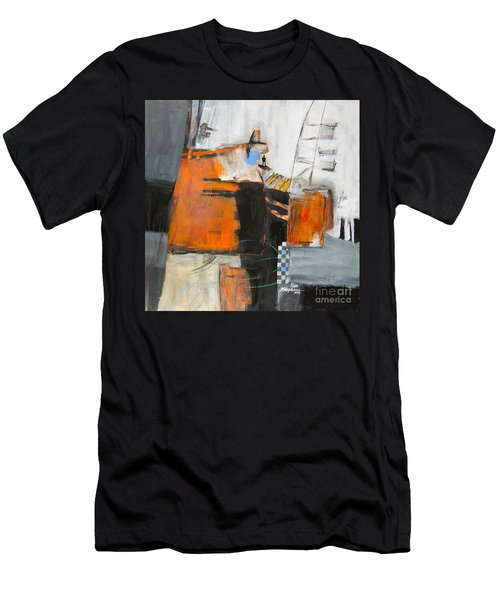 Men's T-Shirt (Slim Fit) featuring the painting The Way Out by Ron Stephens