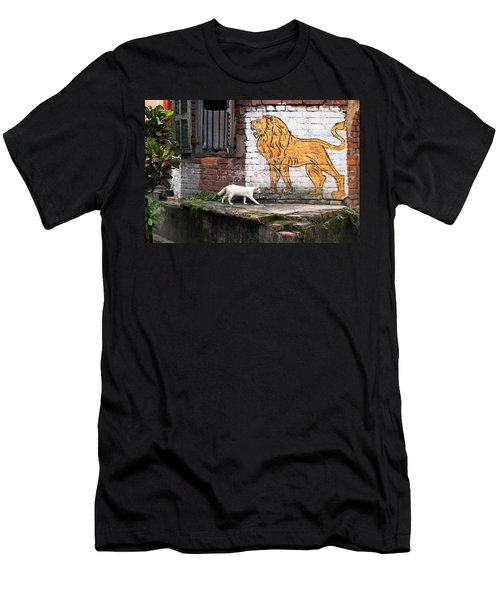 The White Cat Men's T-Shirt (Athletic Fit)
