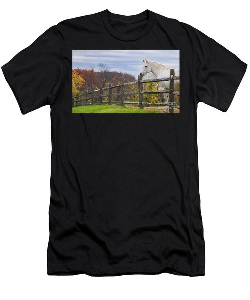 The White Horse Men's T-Shirt (Athletic Fit)