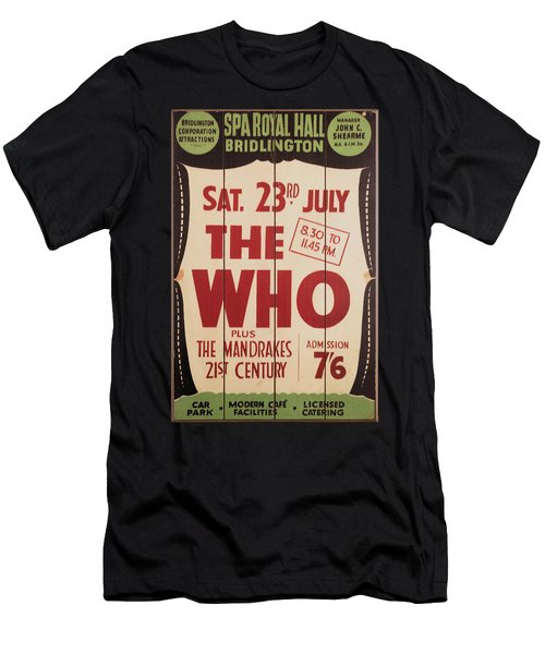 The Who 1966 Tour Poster Men's T-Shirt (Athletic Fit)