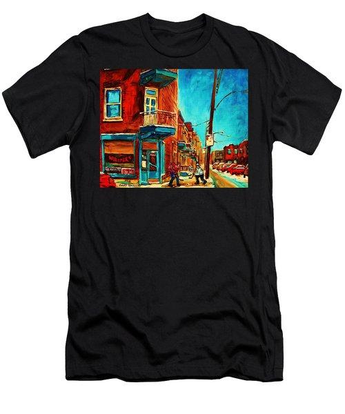 The Wilensky Doorway Men's T-Shirt (Slim Fit) by Carole Spandau
