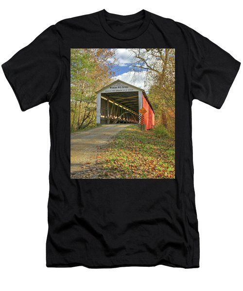 The Wilkins Mill Covered Bridge Men's T-Shirt (Athletic Fit)