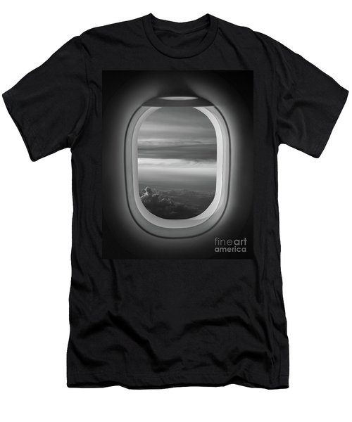 The Window Seat Bw Men's T-Shirt (Athletic Fit)