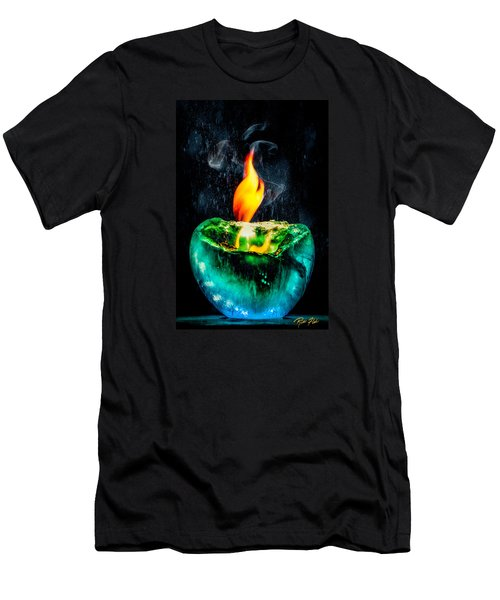 Men's T-Shirt (Athletic Fit) featuring the photograph The Winter Of Fire And Ice by Rikk Flohr