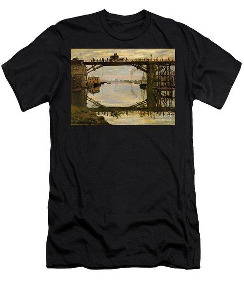 The Wooden Bridge Men's T-Shirt (Slim Fit) by Monet