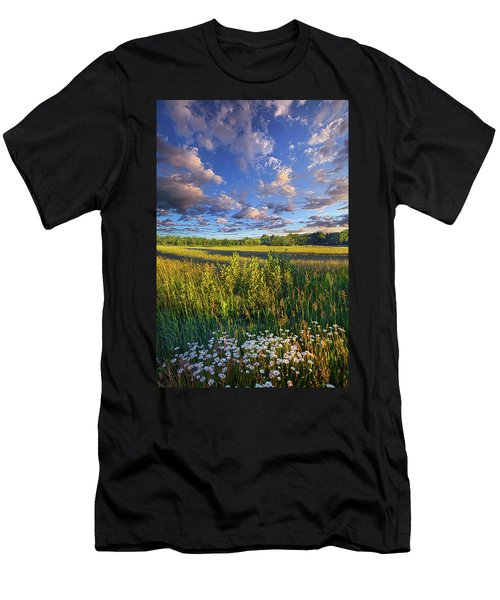 The World Is Quiet Here Men's T-Shirt (Slim Fit) by Phil Koch