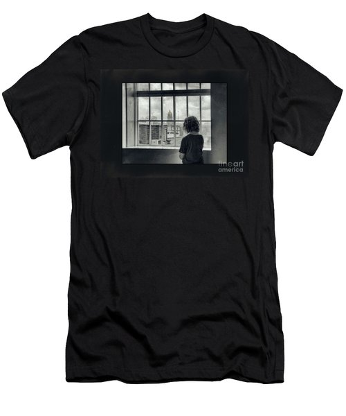 The World Outside My Window Number II  Men's T-Shirt (Athletic Fit)