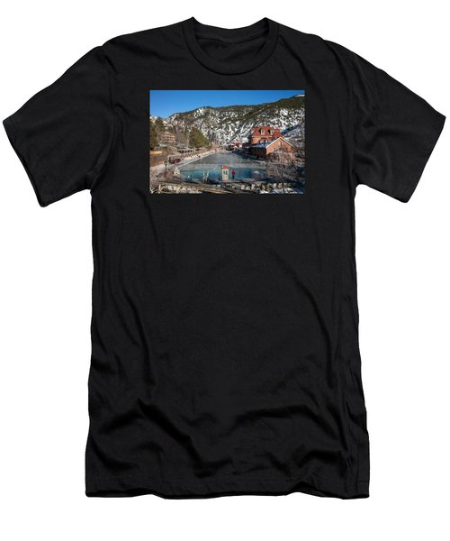 The World's Largest Hot-springs Pool At The Spa Of The Rockies In Glenwood Springs Men's T-Shirt (Athletic Fit)