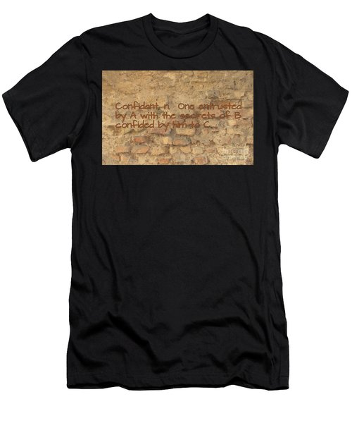 The Writing On The Wall Two Men's T-Shirt (Athletic Fit)