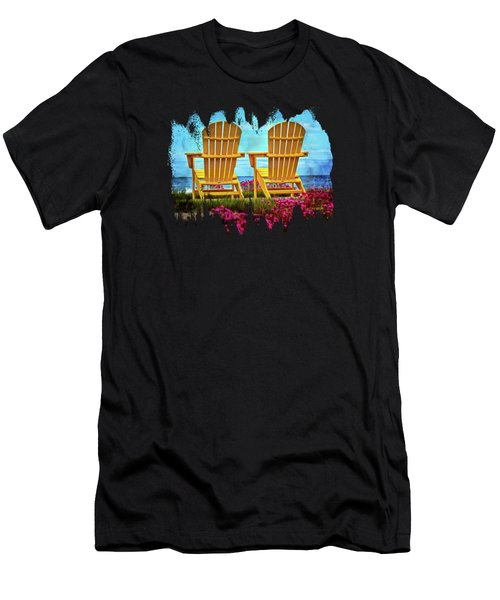 The Yellow Chairs By The Sea Men's T-Shirt (Athletic Fit)