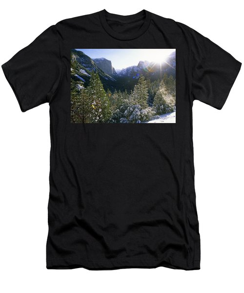 The Yosemite Valley In Winter Men's T-Shirt (Athletic Fit)