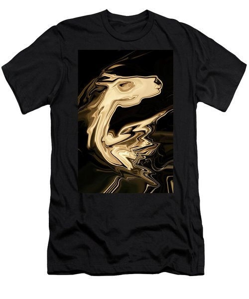 Men's T-Shirt (Slim Fit) featuring the digital art The Young Pegasus by Rabi Khan