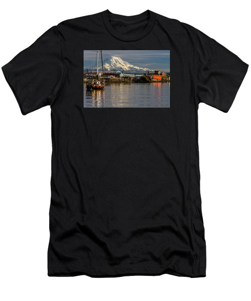 Thea Foss Waterway And Rainier 1 Men's T-Shirt (Athletic Fit)