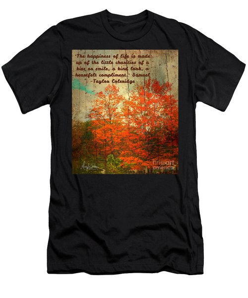 The Happiness Of Life By Taylor Coleridge Men's T-Shirt (Athletic Fit)